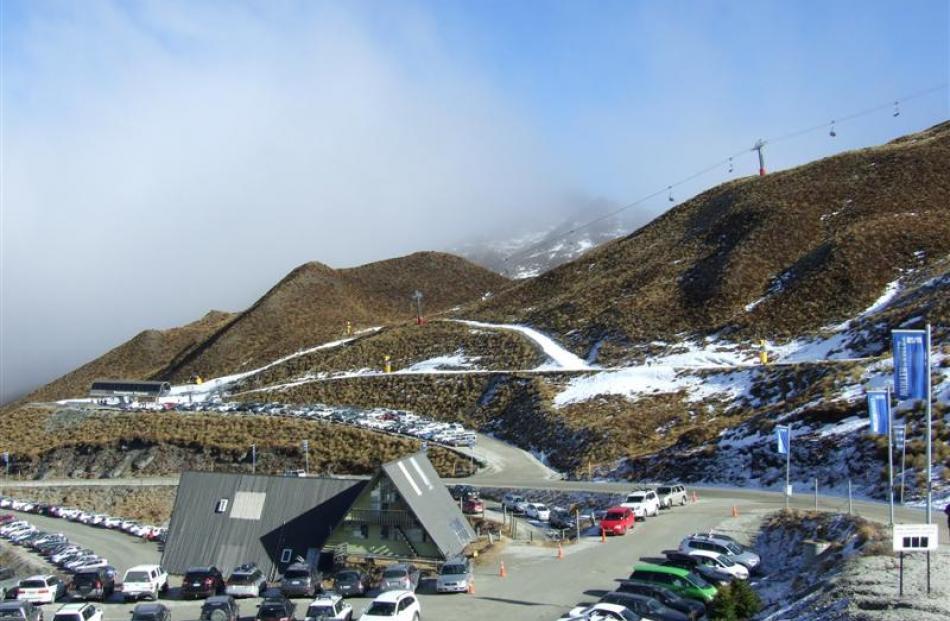 The area around Greengates Express on Coronet Peak yesterday. Photo by Christina McDonald.