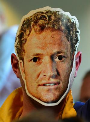 David Heads of Dunedin with his Tony Brown mask.