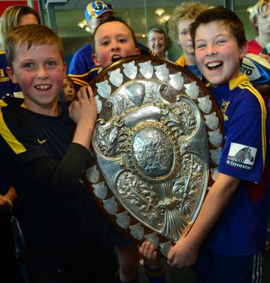 Jayden Standring (10), Harrison Jolly (11) and Bradley Ruddenklau (10), all of Dunedin.