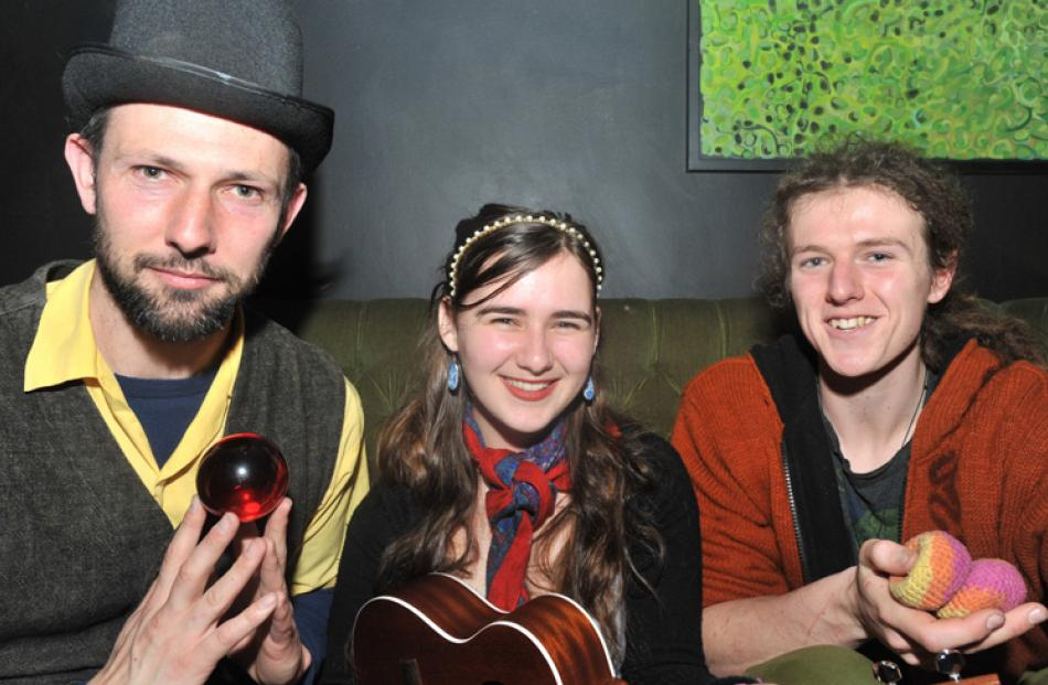 Miguel Nitis, Abigail Smith and David Cook, all of Dunedin.