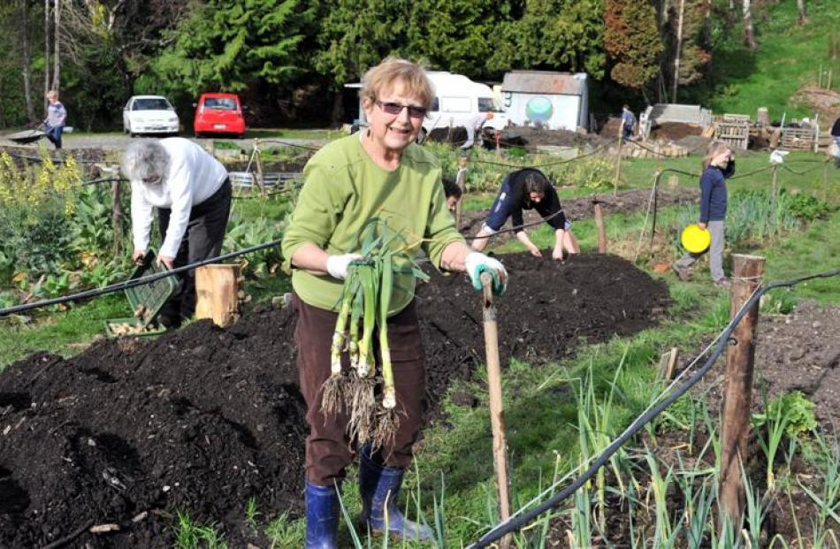 Jenny Roxborogh at the Northeast Valley Community Garden.