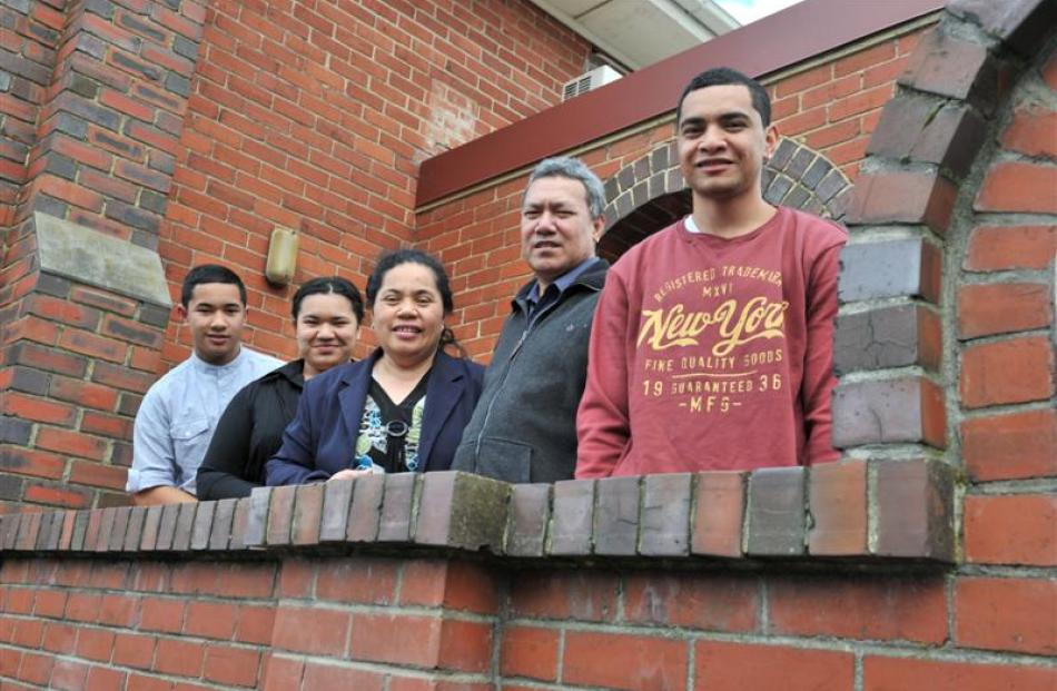 The Penaia family, (from left) Warren (16), Karen (16), Selesa, Teakini and Jarod (19), of...