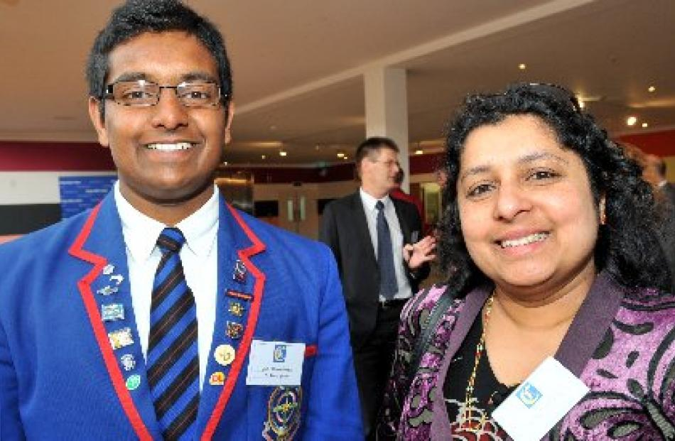 St Kevin's College pupil Jibi Kunnethedam at the Otago Daily Times Class Act awards ceremony,...