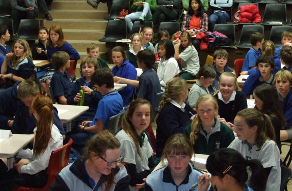 Forty-four teams - the maximum number - filled the Cromwell gymnasium for the Central Otago years...