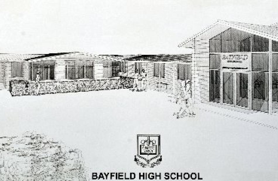 An  artist's impression of what Bayfield High School's new entrance and Student Services Centre...
