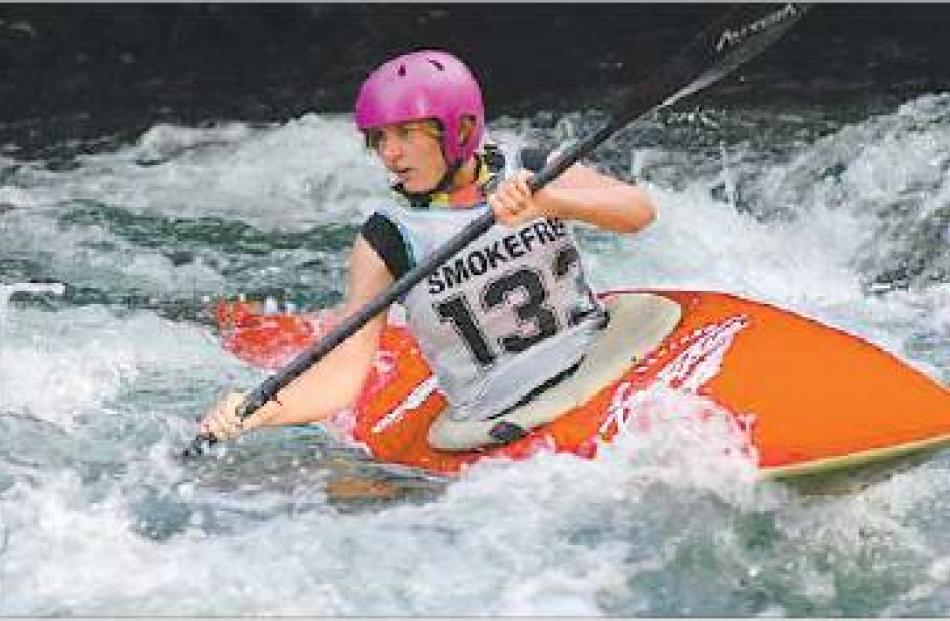 Easy does it: Rachel McLellan wends her way around the course. Picture: Supplied