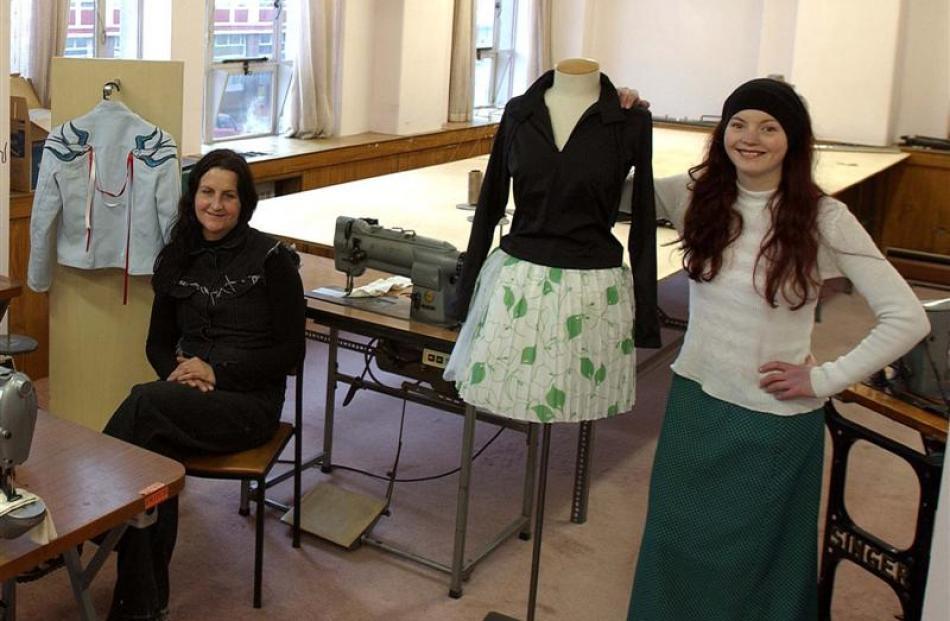 Fashion incubator tenants Cat Callanan (left) and Shelley Tiplady in the fashion incubator...