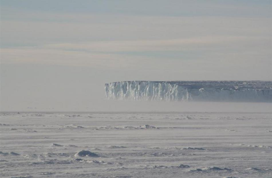 The Barne Glacier, between Cape Evans and Cape Royds. Photo by Grahame Sydney.