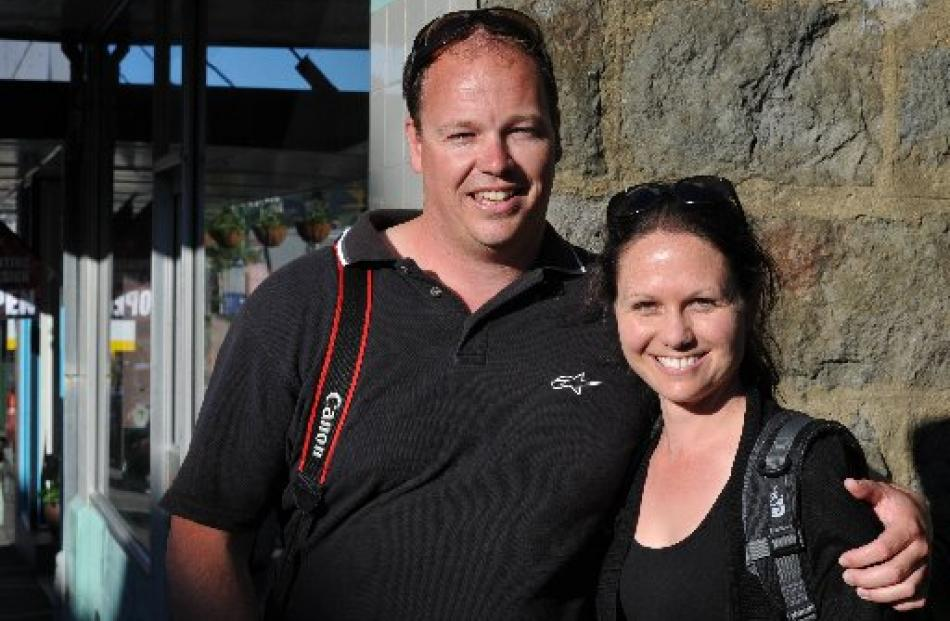 Aaron George and Robyn Worthy, of Melbourne, in Port Chalmers on their first trip to New Zealand....