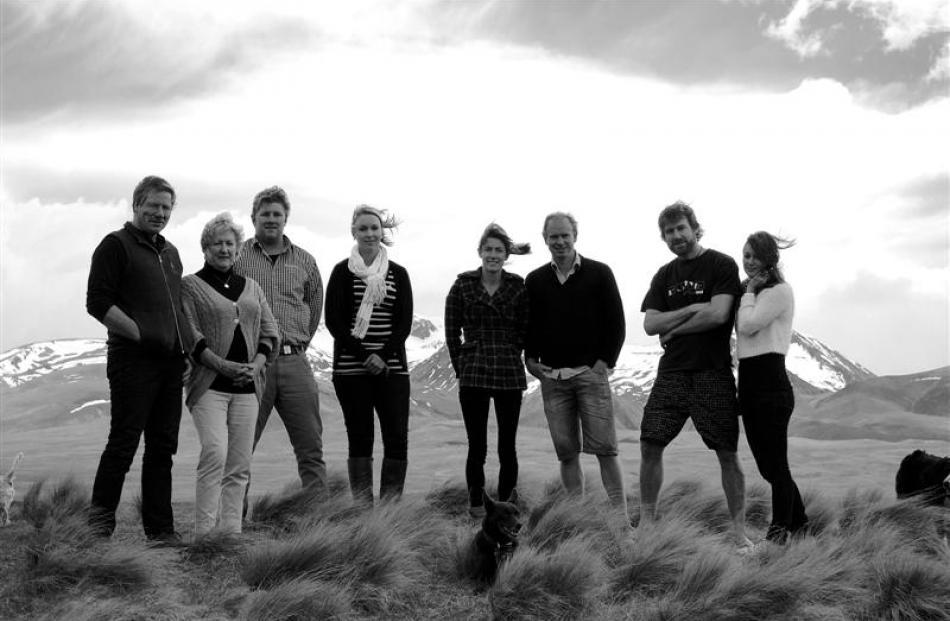 Andrew, Karen and Sam Simpson, Sarah Kerr, Amanda Simpson, Stephen Berge, Ben Simpson and Gemma...