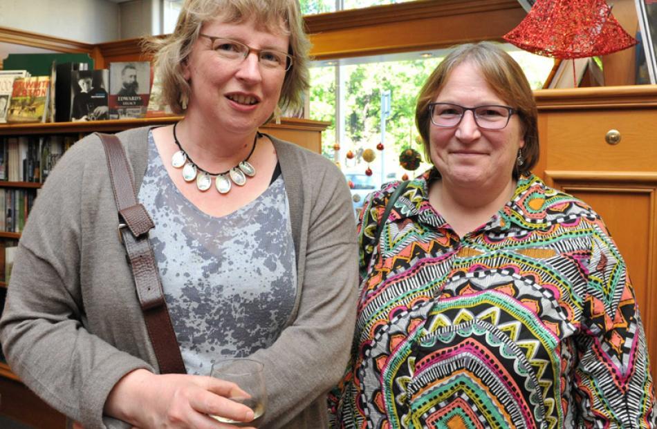 Anna Blackman and Janet Frame's niece and literary executor Pamela Gordon, of Dunedin.