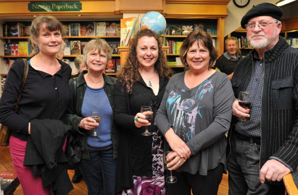 Emma Neale, Carolyn McCurdie, Vanda Symon, Diane Brown and Philip Temple, all of Dunedin.