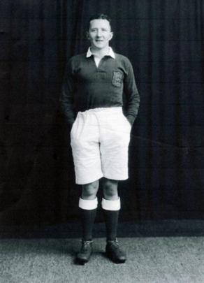 Lions rugby international Michael Dunne, aged 24, poses before the 1930 New Zealand tour.