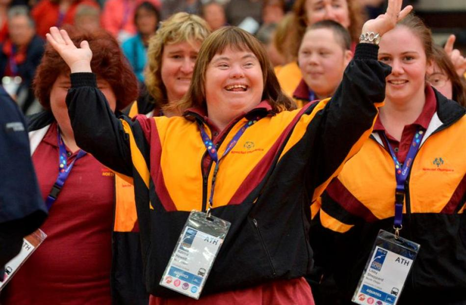 Enjoying the opening ceremony at the More FM arena is Katrina Hewett, of North Otago.