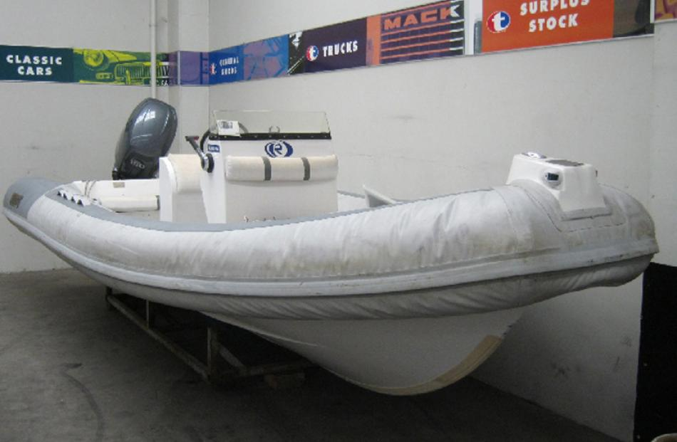 One of three inflatable boats, paid $109,867, sold for $35,800.