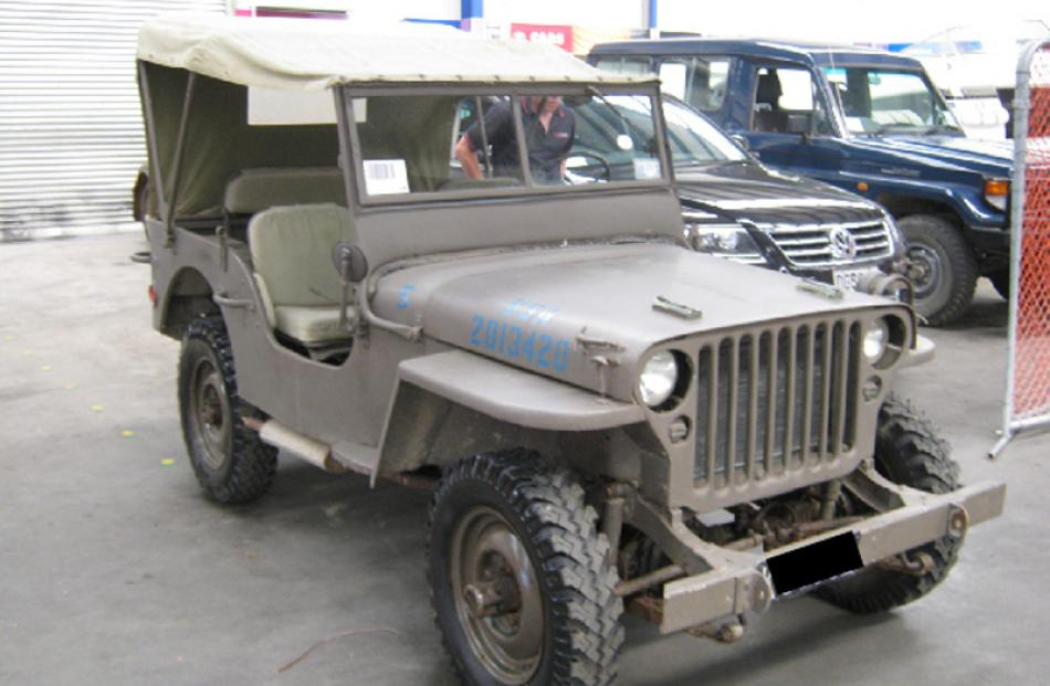 1942 Willys Jeep bought for $10,000, sold for $13,000.