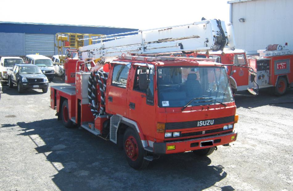 Isuzu fire engine bought for $40,000, sold for $9000.