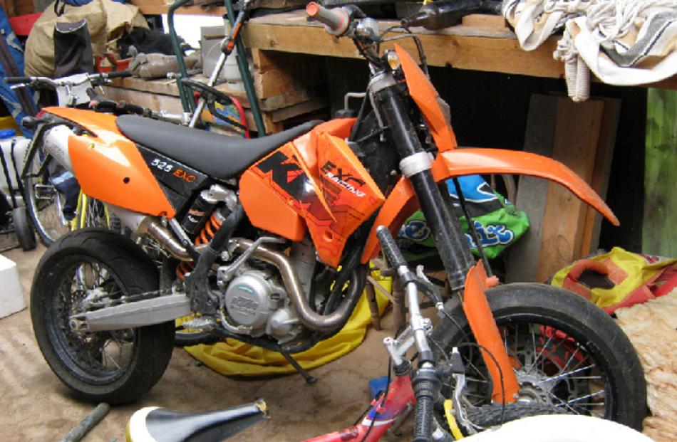 KTM motorcycle bought for $14,500. Yet to be sold.