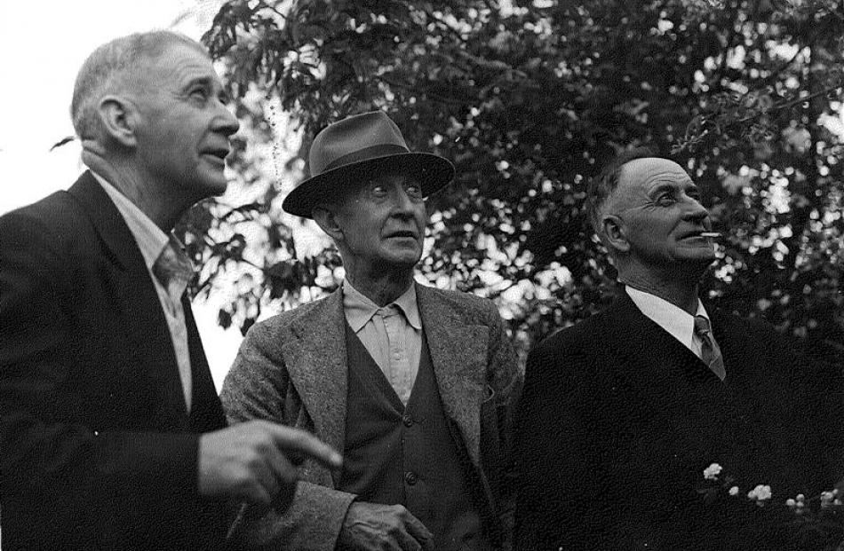 Conscientious objectors William, Archibald, and Donald Baxter, about 1958. Photo supplied.