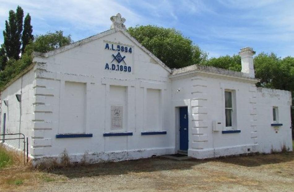 The Ngapara Masonic Lodge.