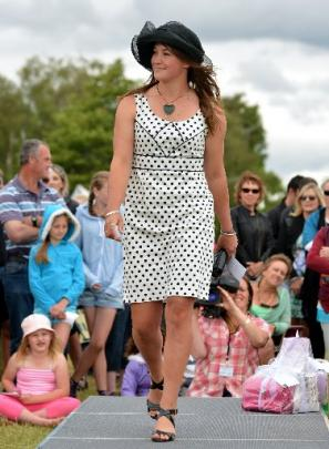 Fashions on the Field winner Michaela Smith, of Alexandra, at the Central Otago Trotting Club...