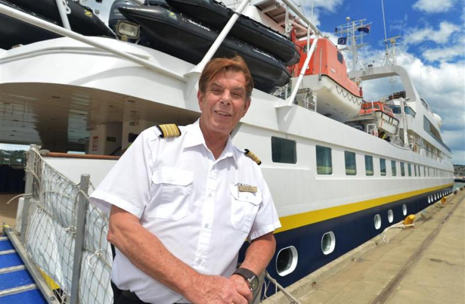 Orion Expedition Cruises hotel manager Ian Vella welcomes passengers aboard the luxury expedition...