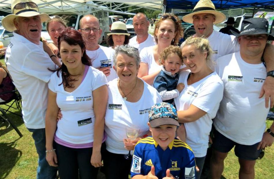 Glenorchy man Rod Spackman (left) hosts family and friends at the races for the 10th year:  (from...