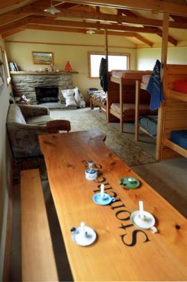 The interior of the new Deep Creek hut.