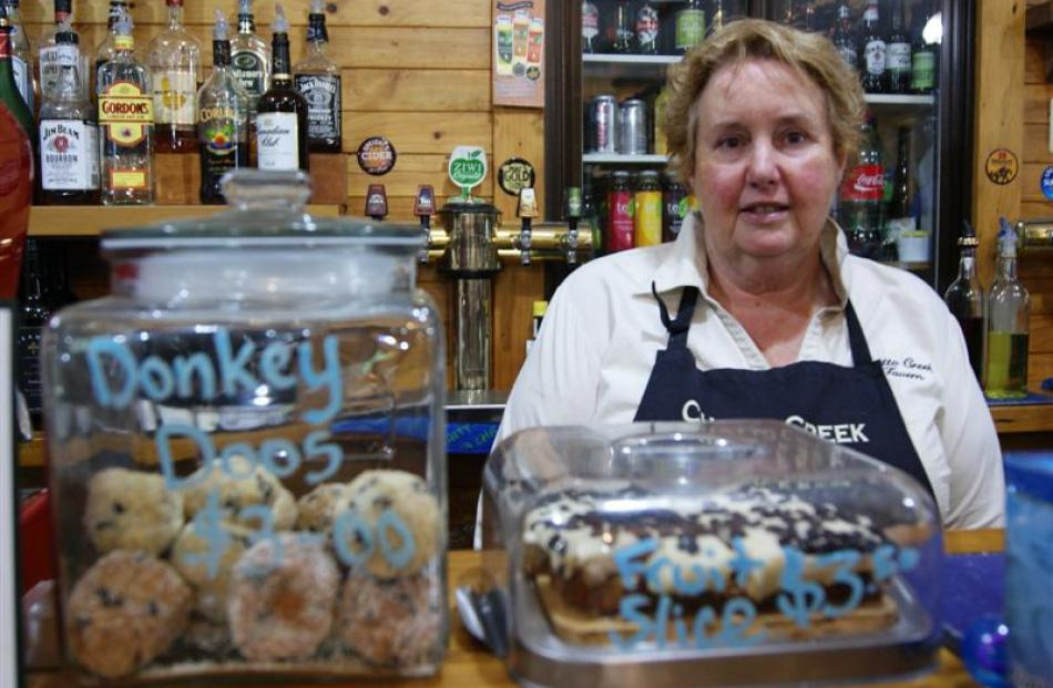 Chatto Creek proprietor Lesley Middlemass with the tavern's infamous ''Donkey Doo'' truffles.