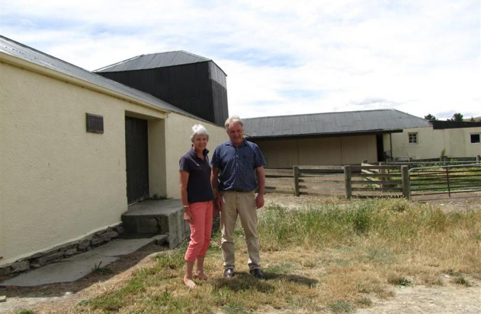 Moutere Station owners Jillian and Tony Jopp with their  NZHPT category one listed cob and mud...