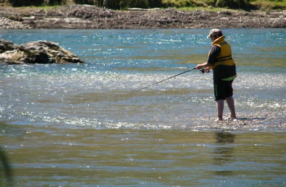 Fishing continues on a sunny day near Beaumont. Photo supplied.