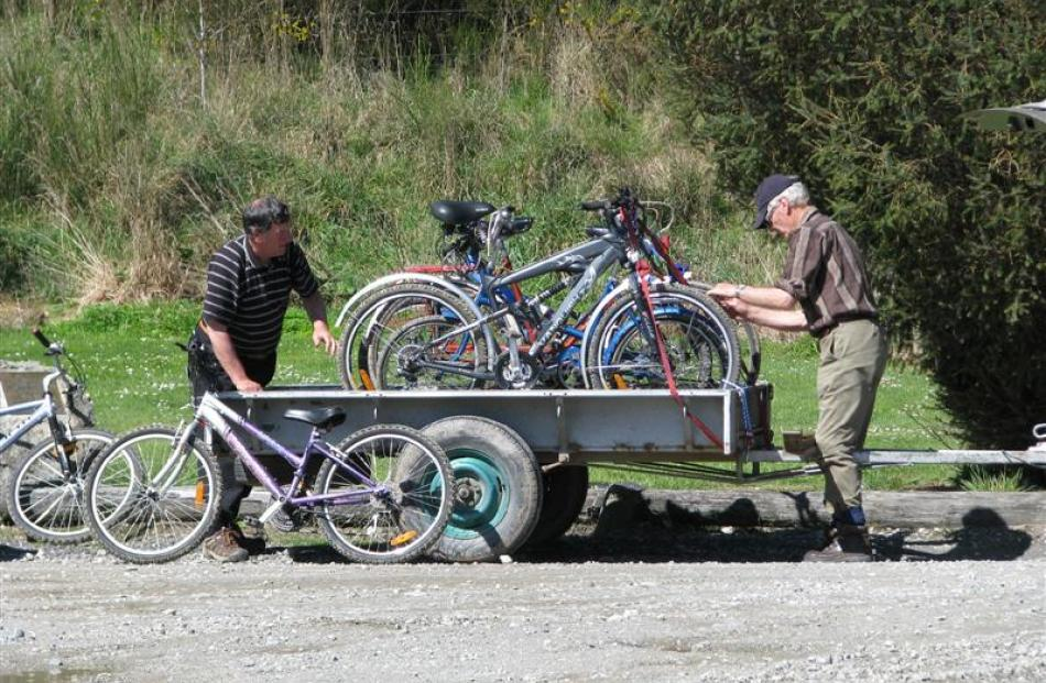 More bicycles are arriving at Beaumont these days, with the opening of the Clutha Gold Trail....