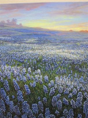 Best landscape <i>Bluebonnets</i> by Raquel  Clarke, of Queenstown.