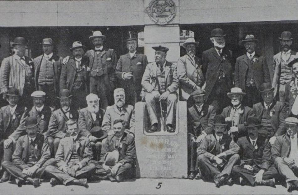 Caledonian Society of Otago directors and society president Dugald McPherson (in chair), pictured...