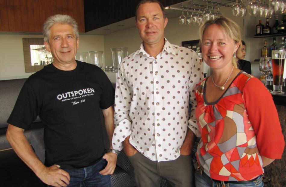 Luc Bohyn of Wanaka, Jim Rimmer of Lake Hawea, and Jane Rimmer of Hawea Flat.