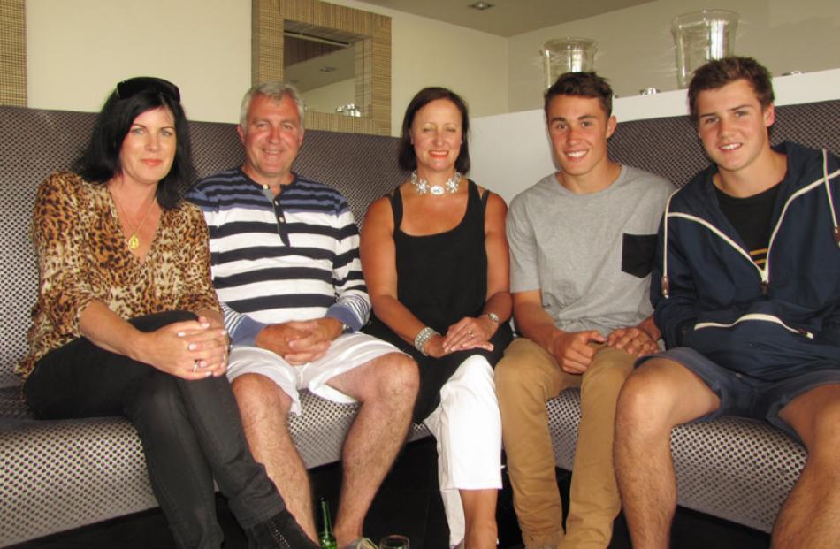Sally Darling, Miles Yeoman, Storm McVay, George Yeoman and Angus Darling, all of Christchurch.