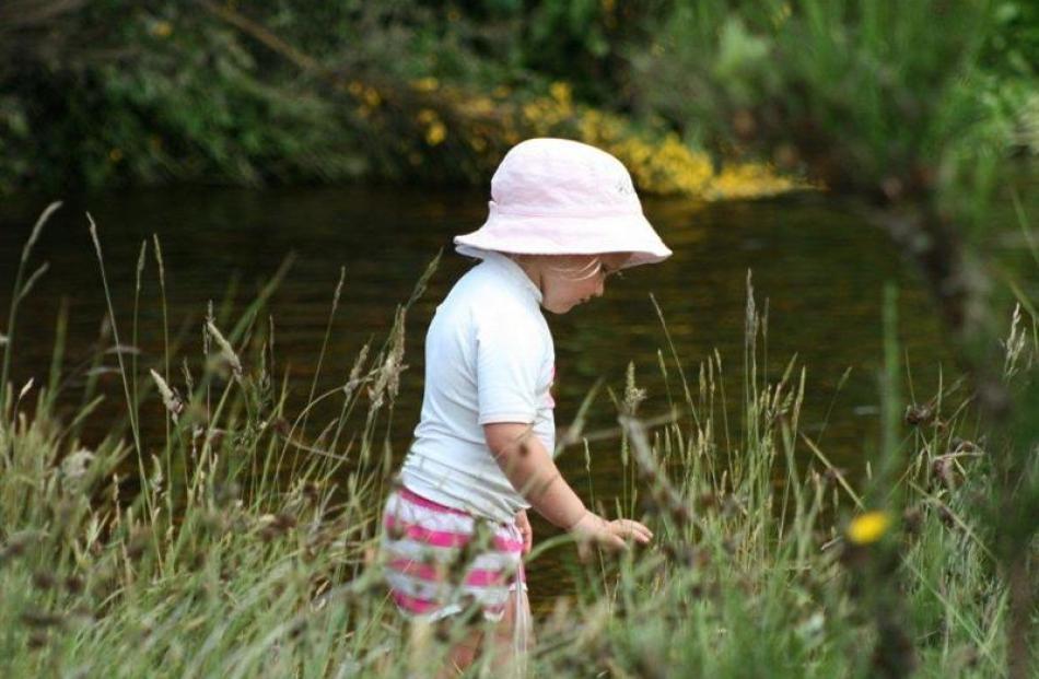 Weekly Winner 2: Meadow magic - Jordyn Aitken (4) looks for daisies near Deep Stream  on December...