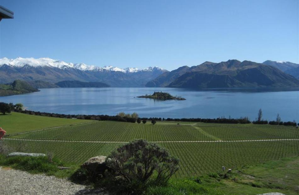 The glorious view from Rippon Hall - on a fine day.