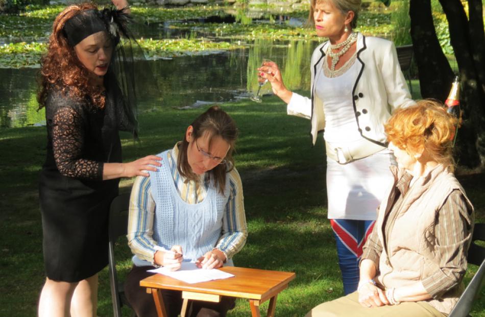 Actresses (from left) Jane Robertson, Nicky Busst, Belinda Fraser and Jill Derbie recreate...