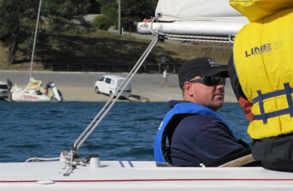 Paraplegic helmsman Geoff Wilson.