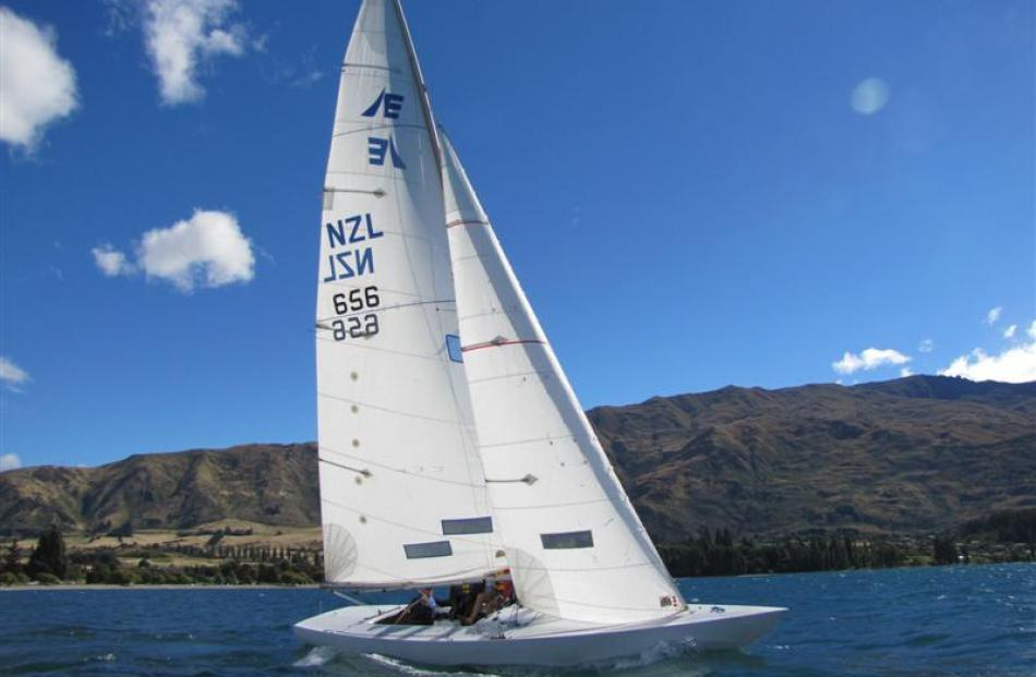 Wanaka Yacht Club commodore Quentin Smith sails Roger North's Point of Sail on Lake Wanaka....