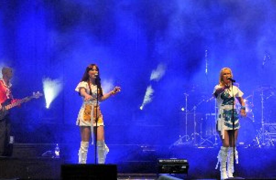 Abba tribute band Bjorn Again perform on stage. Photos by Gregor Richardson.