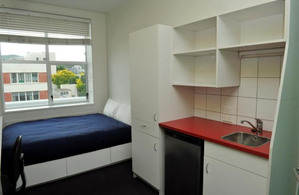 One of the college's 127 bedrooms, all complete with en suite.