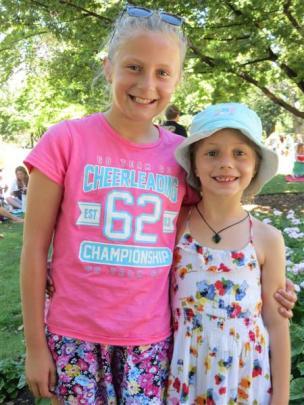 Ellah (11) and Mia Lanuel (7), both of Queenstown.