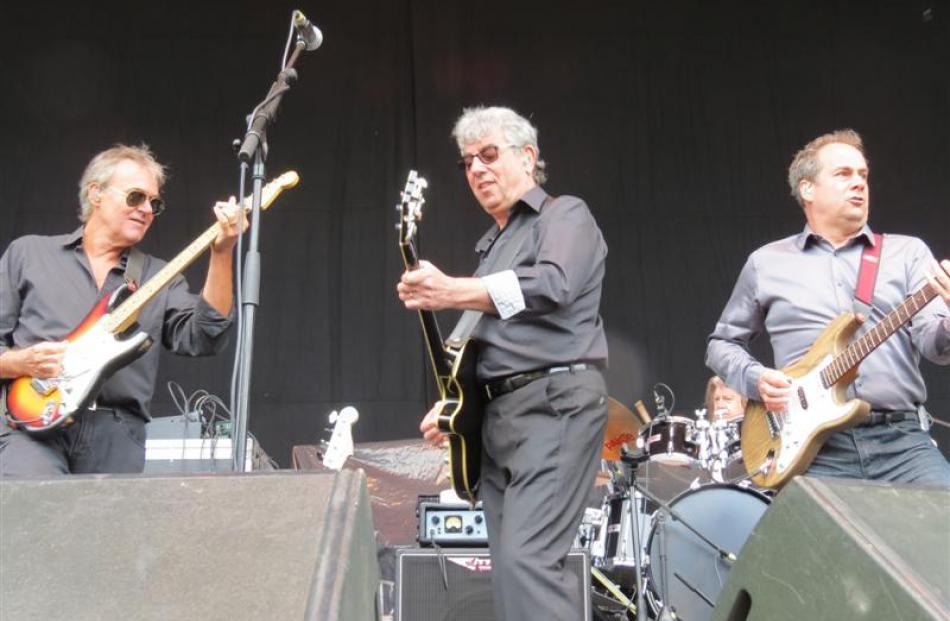 10cc band members (from left) Rick Fenn, Graham Gouldman and Mick Wilson played their hits.