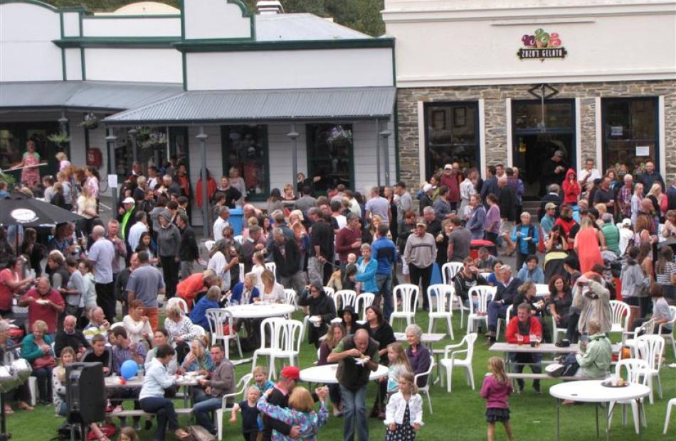 Hundreds of people congregated on Buckingham St in Arrowtown on Thursday night to welcome the New...
