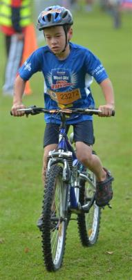 Bevon Scott (9), of Mosgiel, on his mountain bike.