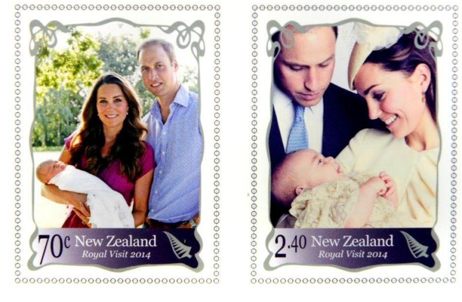 Early proofs of the  royal  stamps. Photo supplied.