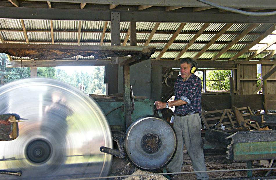 He may be almost 87, but Malcolm Scott still turns up for work every day, breaking down logs for...