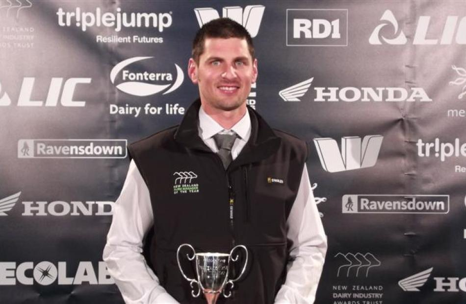 Southland Otago farm manager of the year  Jared Crawford, of Riversdale.